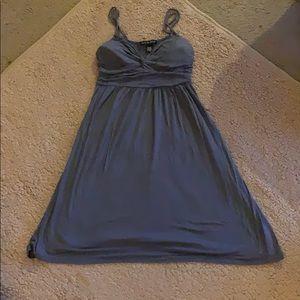 Short loose and flowy grey dress